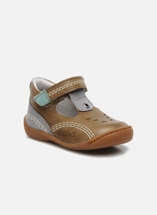 Sommersko Kickers GULLI Brun detaljeret billede af skoene