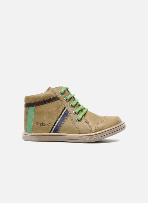 Boots en enkellaarsjes Kickers TEOPHANE Beige achterkant