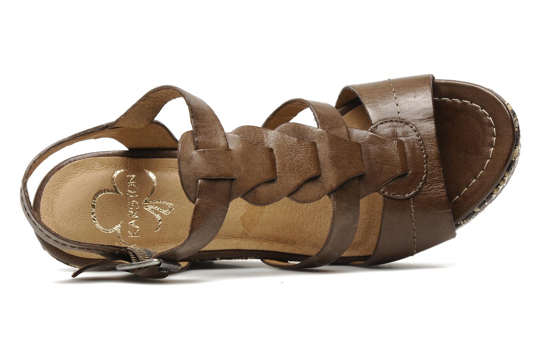Sandales et nu-pieds Karston Lider Marron vue gauche