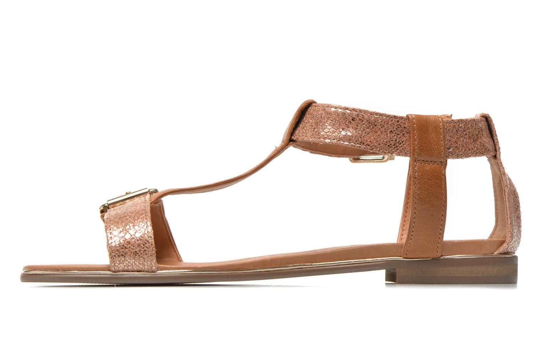 Sandales et nu-pieds Karston Sobel Or et bronze vue face