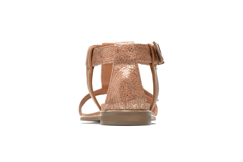 Sandales et nu-pieds Karston Sobel Or et bronze vue droite