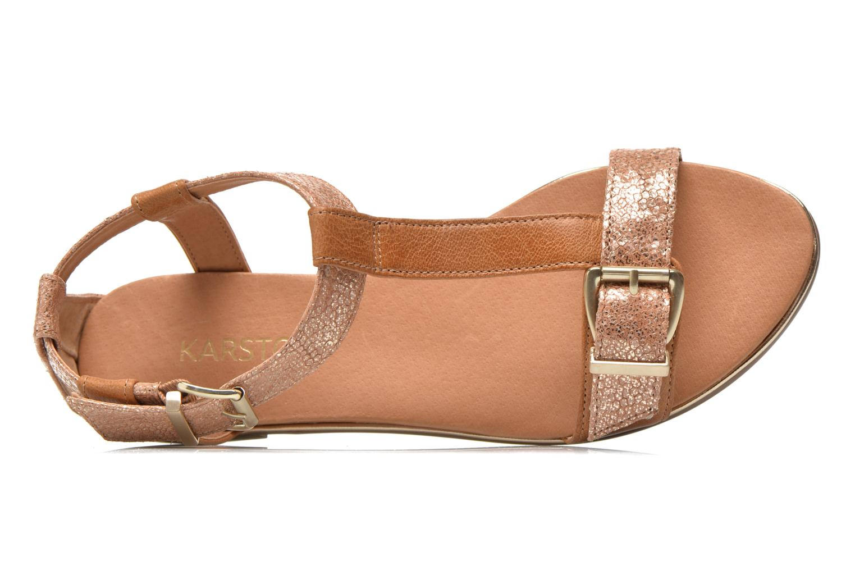 Sandales et nu-pieds Karston Sobel Or et bronze vue gauche