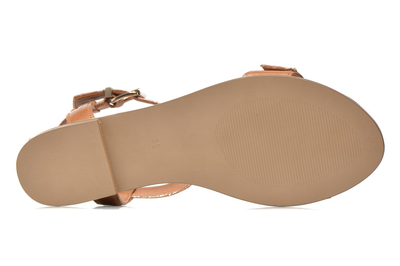 Sandales et nu-pieds Karston Sobel Or et bronze vue haut