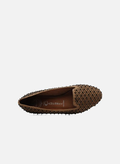 Loafers Jeffrey Campbell Martini SP Beige view from the left