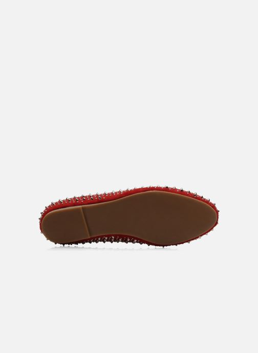 Mocassins Jeffrey Campbell Martini SP Rouge vue haut