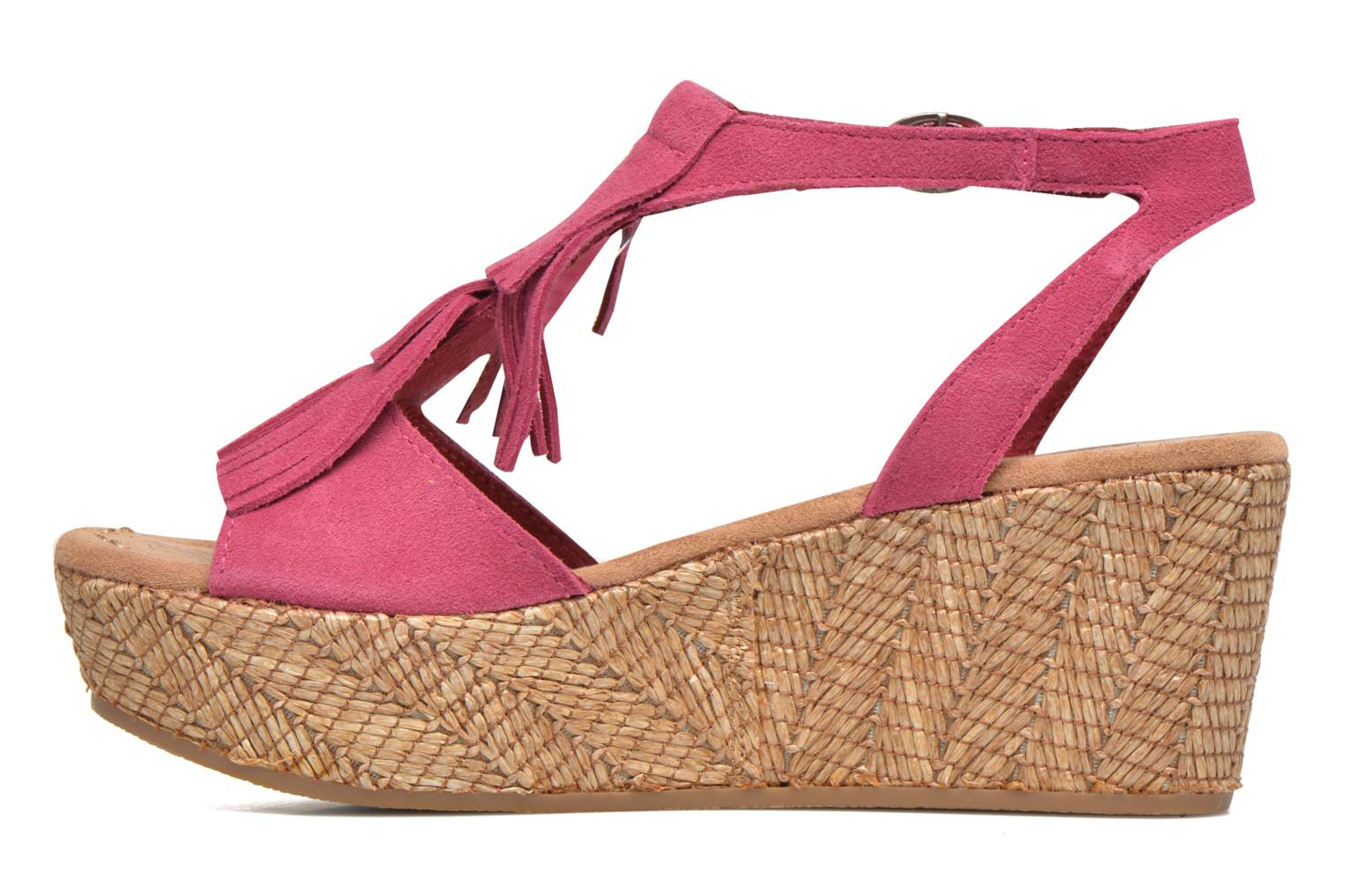 Sandals Minnetonka Central Pink front view