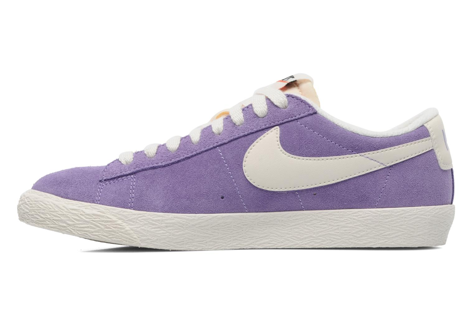 Trainers Nike Wmns Blazer Low Suede Vintage Purple front view