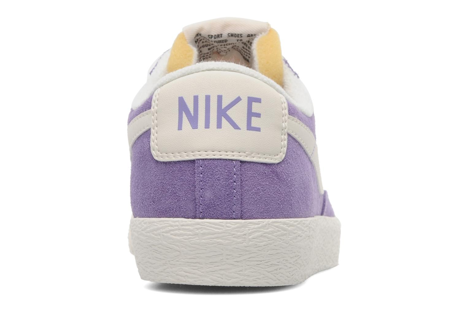 Trainers Nike Wmns Blazer Low Suede Vintage Purple view from the right