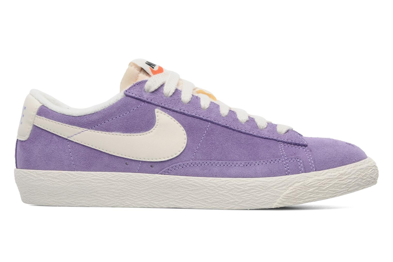 Trainers Nike Wmns Blazer Low Suede Vintage Purple back view