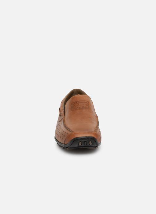 Mocassins Rieker Garrit 08969 Marron vue portées chaussures