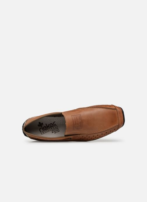 Loafers Rieker Garrit 08969 Brown view from the left