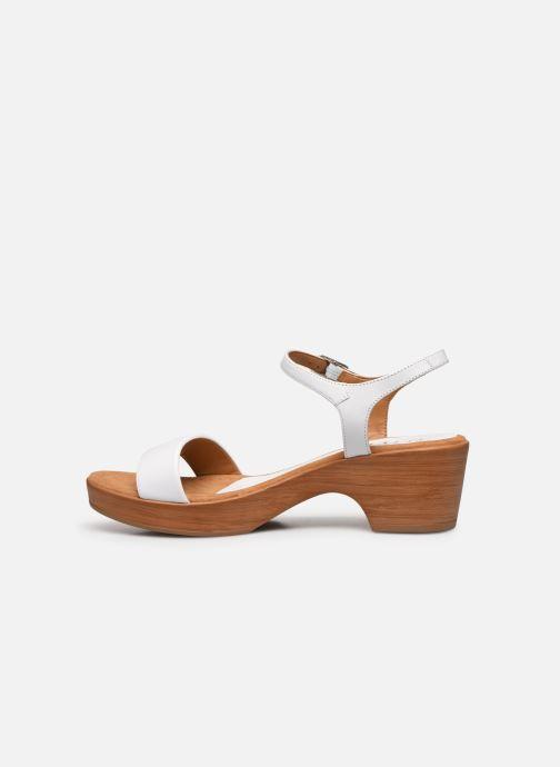 Sandales et nu-pieds Unisa Irita Blanc vue face