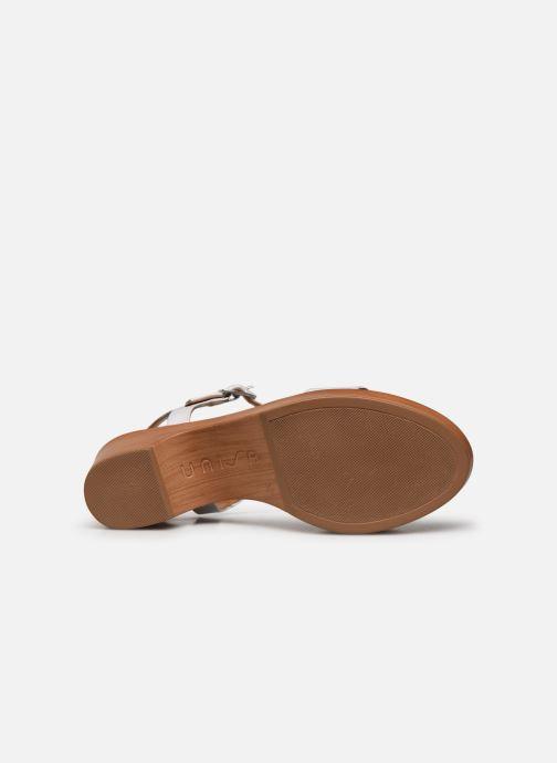 Sandales et nu-pieds Unisa Irita Blanc vue haut