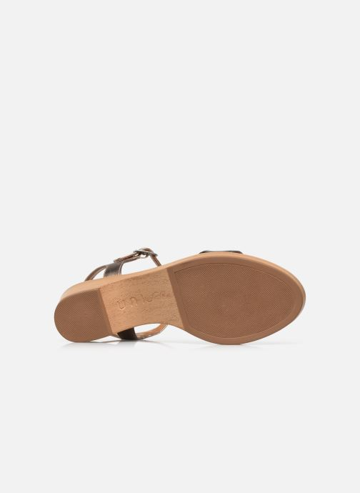 Sandales et nu-pieds Unisa Irita Noir vue haut