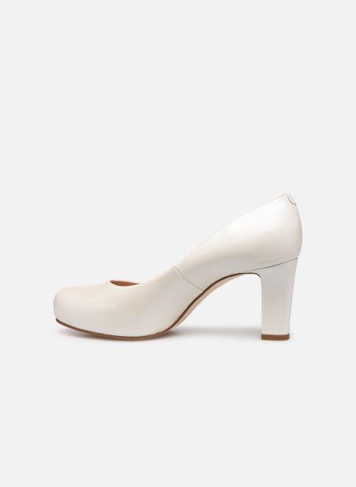 Zapatos de tacón Unisa Numis Blanco vista de frente