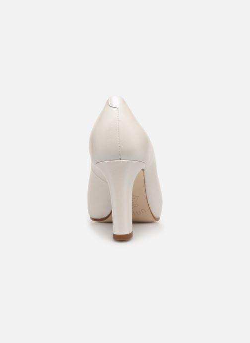 Zapatos de tacón Unisa Numis Blanco vista lateral derecha