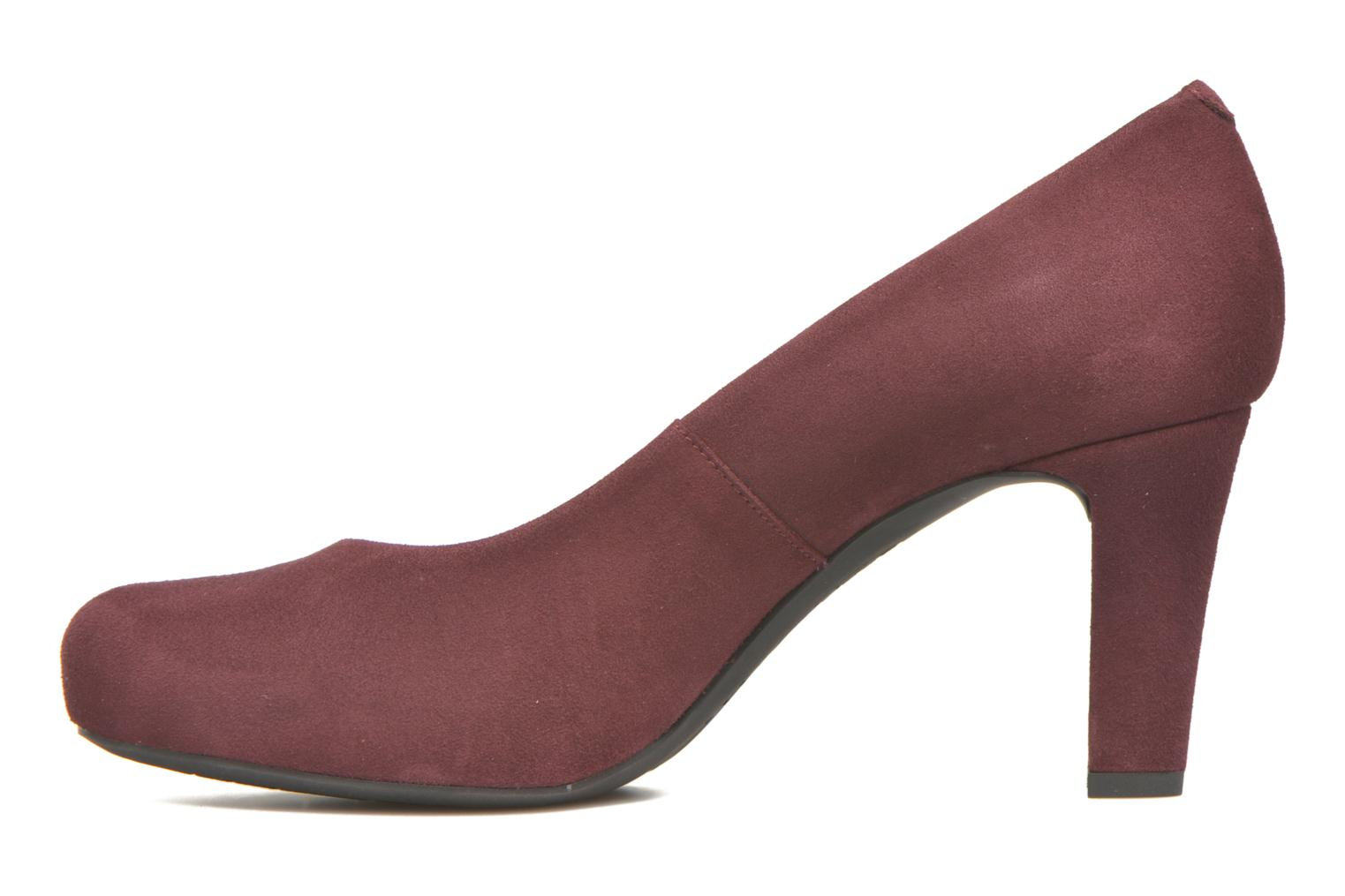 High heels Unisa Numis Burgundy front view