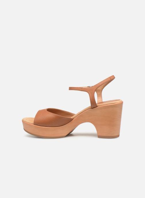 Sandales et nu-pieds Unisa Ontral Marron vue face