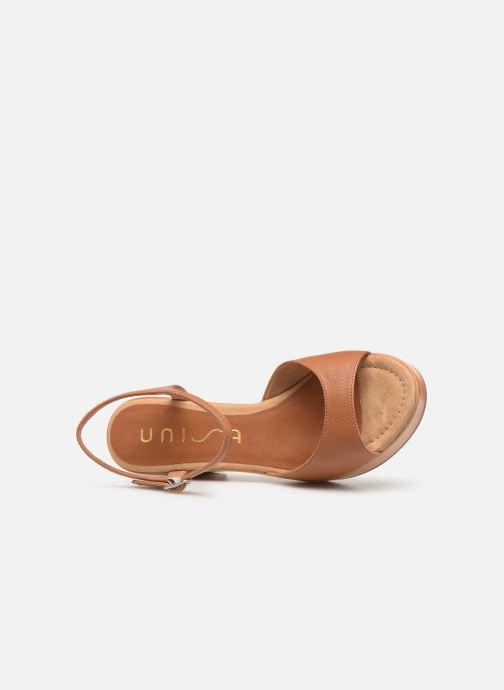Sandales et nu-pieds Unisa Ontral Marron vue gauche