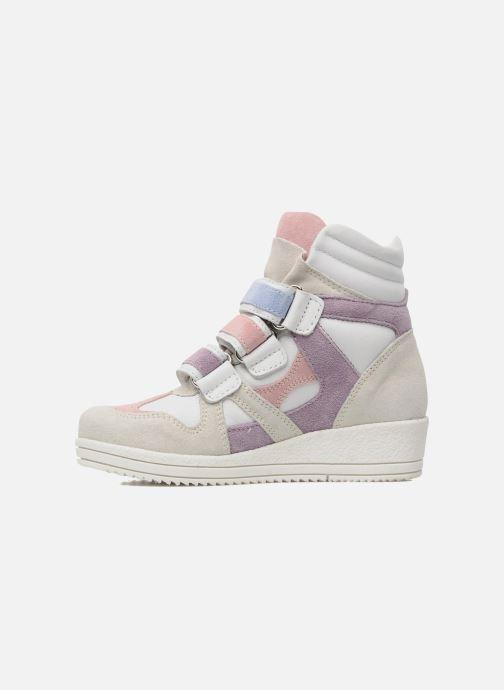 Sneakers Ninette en fleurs 7010 Bianco immagine frontale