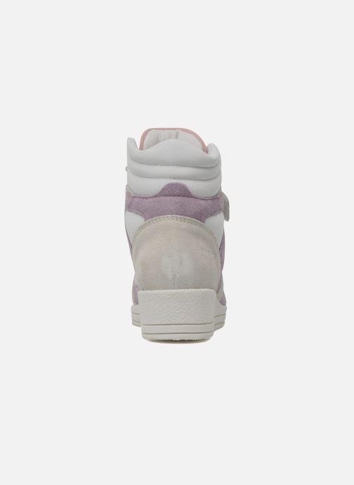 Sneakers Ninette en fleurs 7010 Wit rechts
