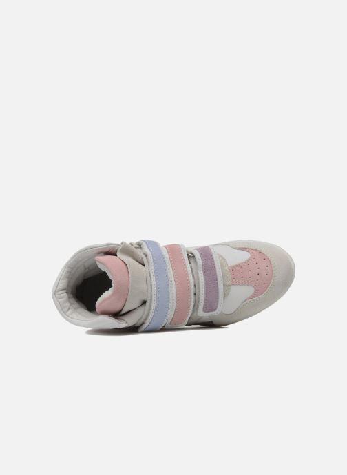 Sneakers Ninette en fleurs 7010 Wit links