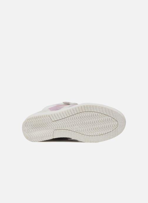 Baskets Ninette en fleurs 7010 Blanc vue haut