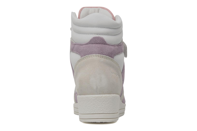 Baskets Ninette en fleurs 7010 Blanc vue droite