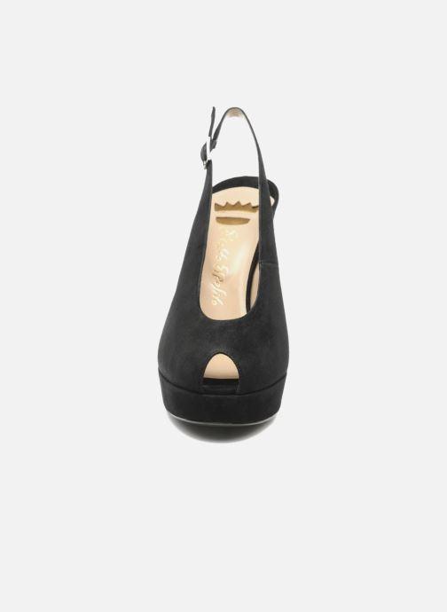 Sandals Ernesto Esposito Elia Black model view