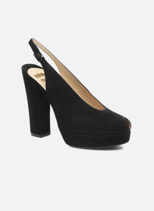 Sandaler Ernesto Esposito Elia Sort detaljeret billede af skoene