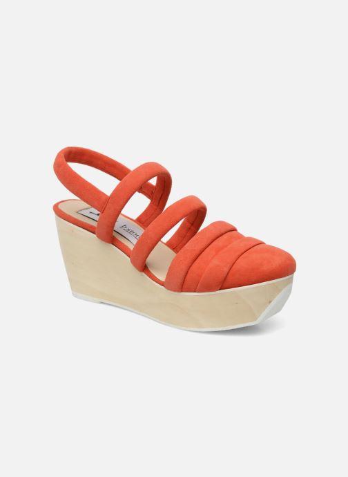 Sandals B Store Edwige 6 Orange detailed view/ Pair view