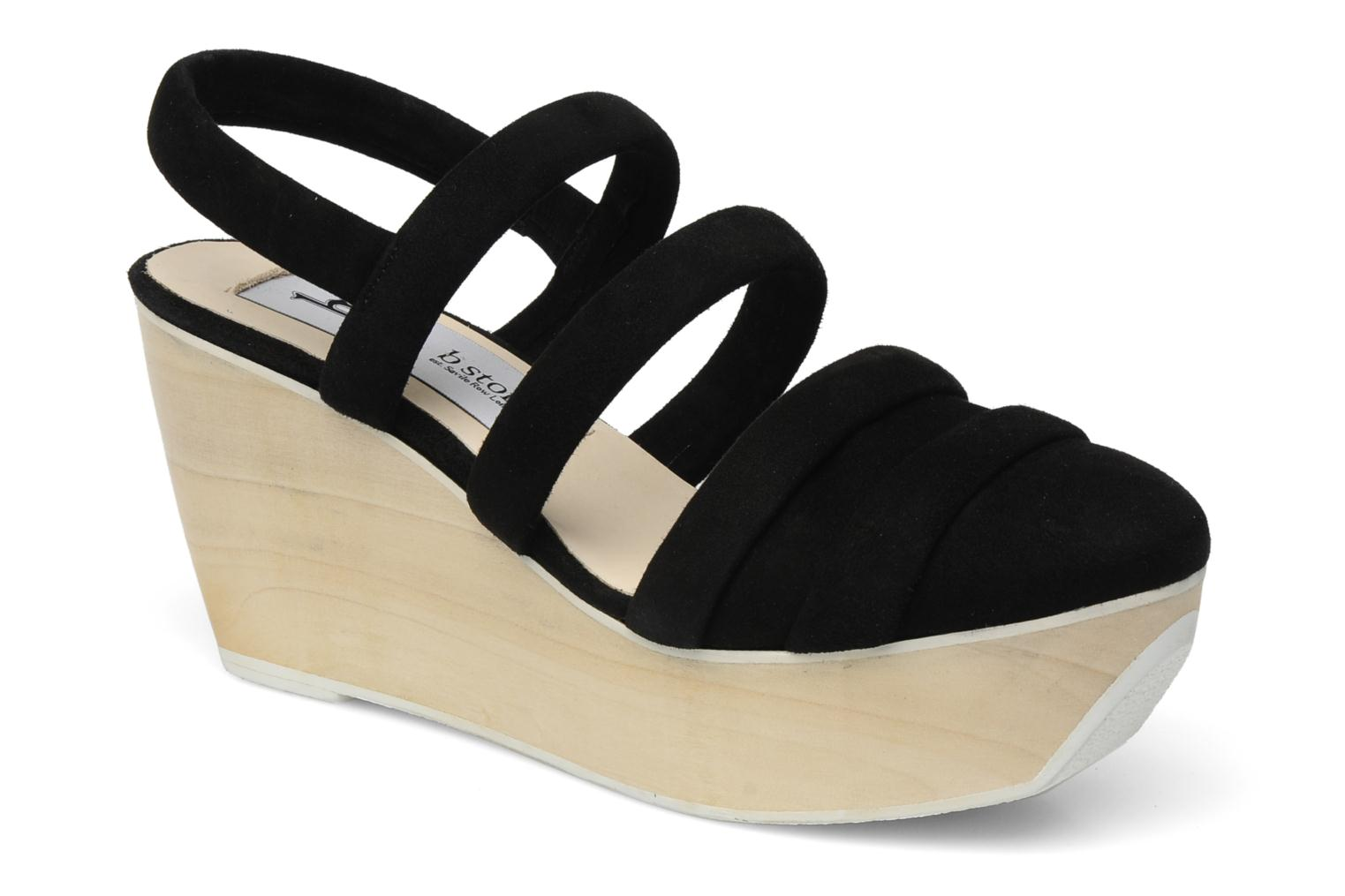 Sandals B Store Edwige 6 Black detailed view/ Pair view