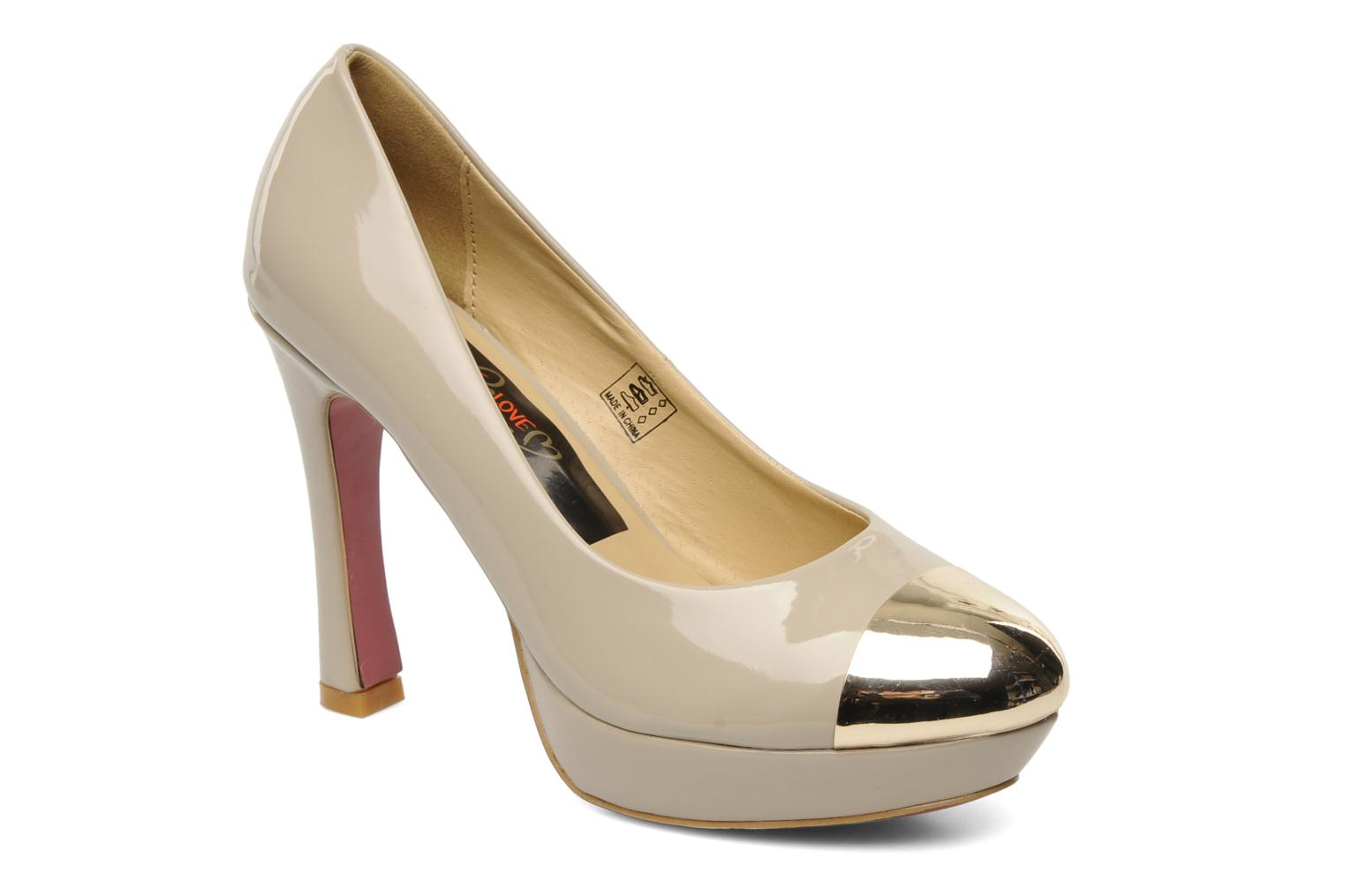 High heels I Love Shoes Phofolle Beige detailed view/ Pair view