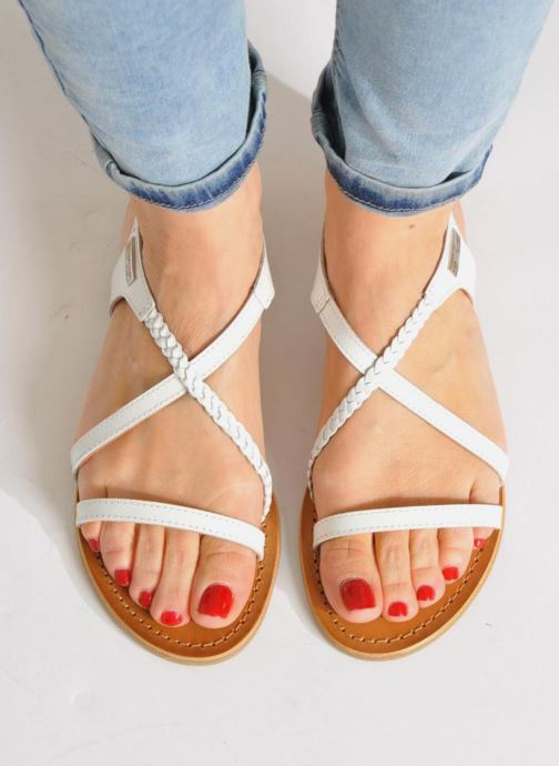 Sandals Les Tropéziennes par M Belarbi Hanano Brown view from underneath / model view