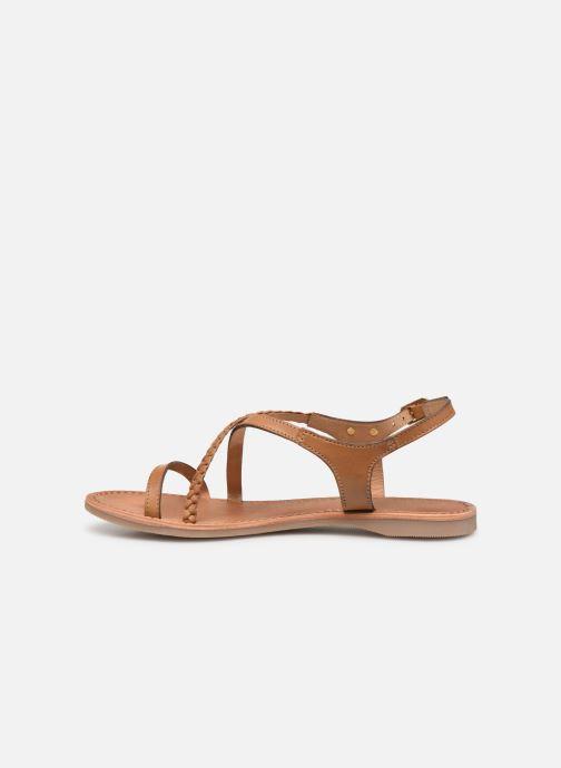 Sandales et nu-pieds Les Tropéziennes par M Belarbi Hanano Marron vue face