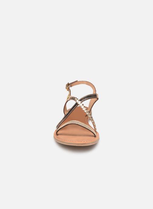 Sandalias Les Tropéziennes par M Belarbi Hanano Oro y bronce vista del modelo