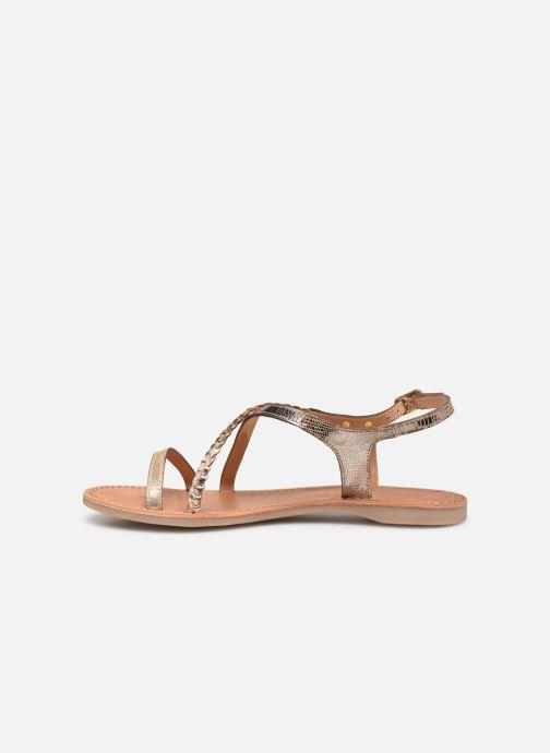 Sandales et nu-pieds Les Tropéziennes par M Belarbi Hanano Or et bronze vue face