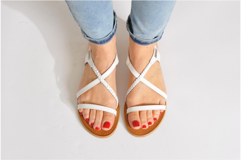 Sandals Les Tropéziennes par M Belarbi Hanano Bronze and Gold view from underneath / model view