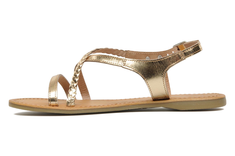 Sandals Les Tropéziennes par M Belarbi Hanano Bronze and Gold front view