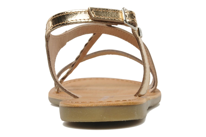 Sandals Les Tropéziennes par M Belarbi Hanano Bronze and Gold view from the right