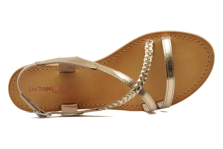 Sandals Les Tropéziennes par M Belarbi Hanano Bronze and Gold view from the left