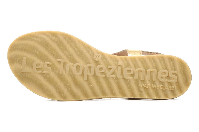 Sandals Les Tropéziennes par M Belarbi Hanano Bronze and Gold view from above