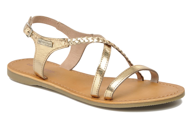 Sandals Les Tropéziennes par M Belarbi Hanano Bronze and Gold detailed view/ Pair view