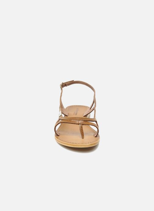 Sandales et nu-pieds Les Tropéziennes par M Belarbi Isatis Marron vue portées chaussures