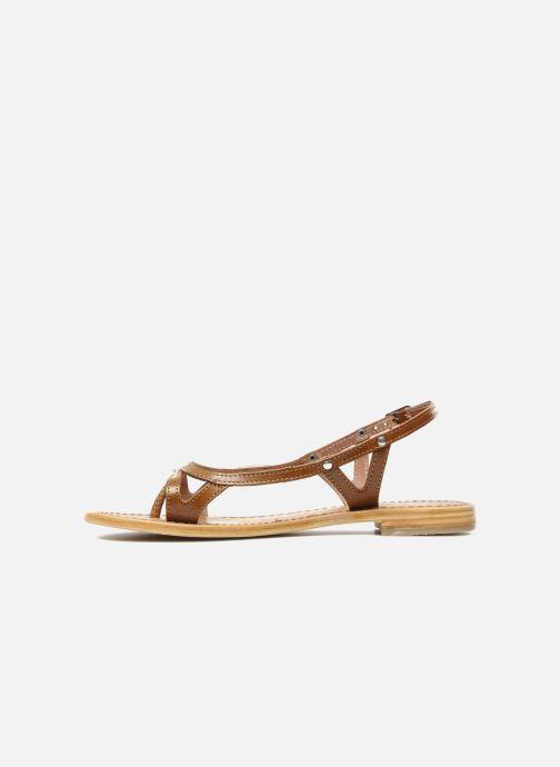 Sandales et nu-pieds Les Tropéziennes par M Belarbi Isatis Marron vue face