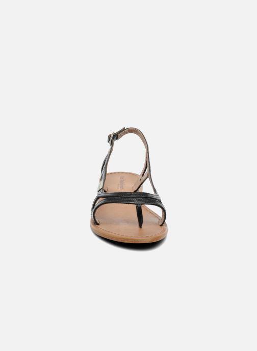 Sandales et nu-pieds Les Tropéziennes par M Belarbi Isatis Noir vue portées chaussures