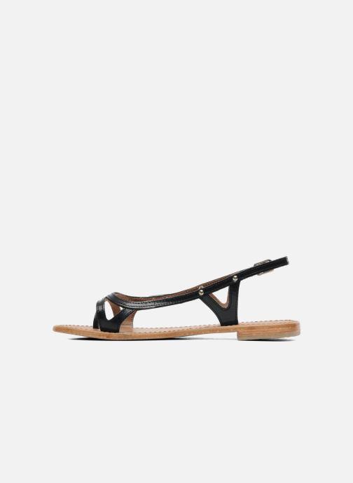 Sandales et nu-pieds Les Tropéziennes par M Belarbi Isatis Noir vue face