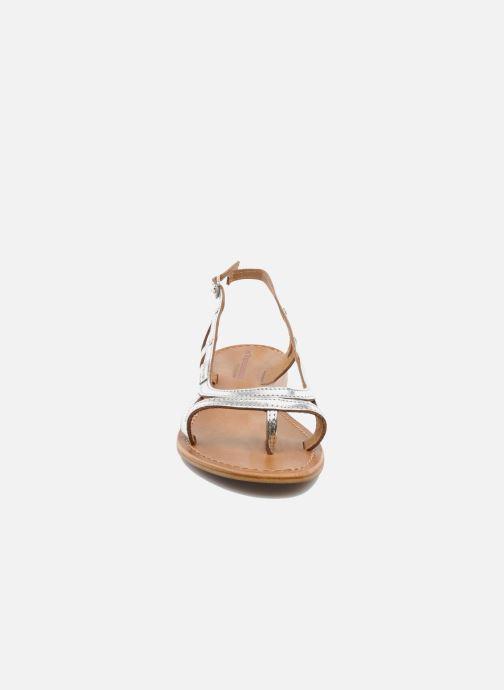 Sandales et nu-pieds Les Tropéziennes par M Belarbi Isatis Argent vue portées chaussures
