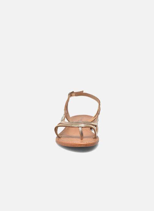 Sandales et nu-pieds Les Tropéziennes par M Belarbi Isatis Or et bronze vue portées chaussures