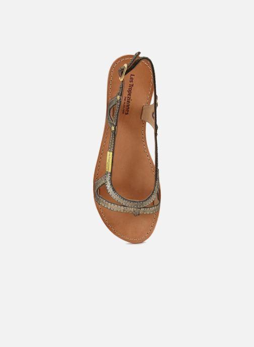 Sandales et nu-pieds Les Tropéziennes par M Belarbi Isatis Or et bronze vue gauche